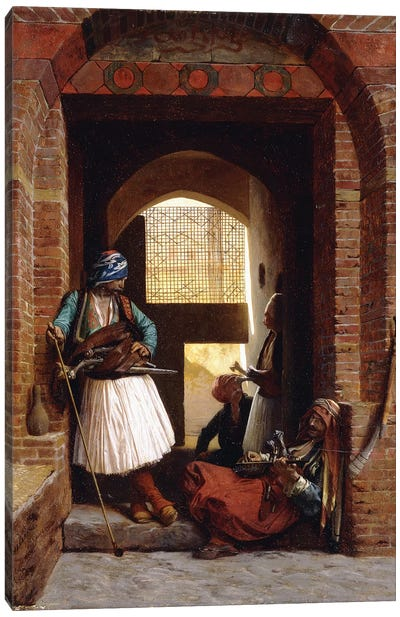 Arnaut Bodyguards In Cairo, 1861 Canvas Art Print