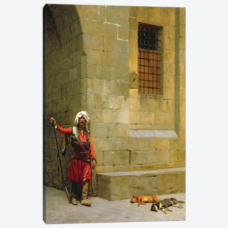 Arnaut et Chiens, C.1879 Canvas Print #BMN7710} by Jean Leon Gerome Canvas Artwork