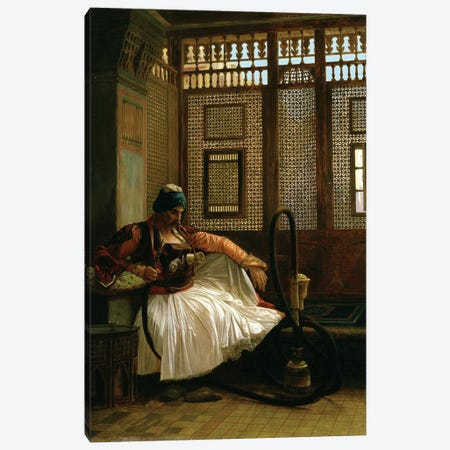 Arnaut Smoking Canvas Print #BMN7712} by Jean Leon Gerome Canvas Wall Art