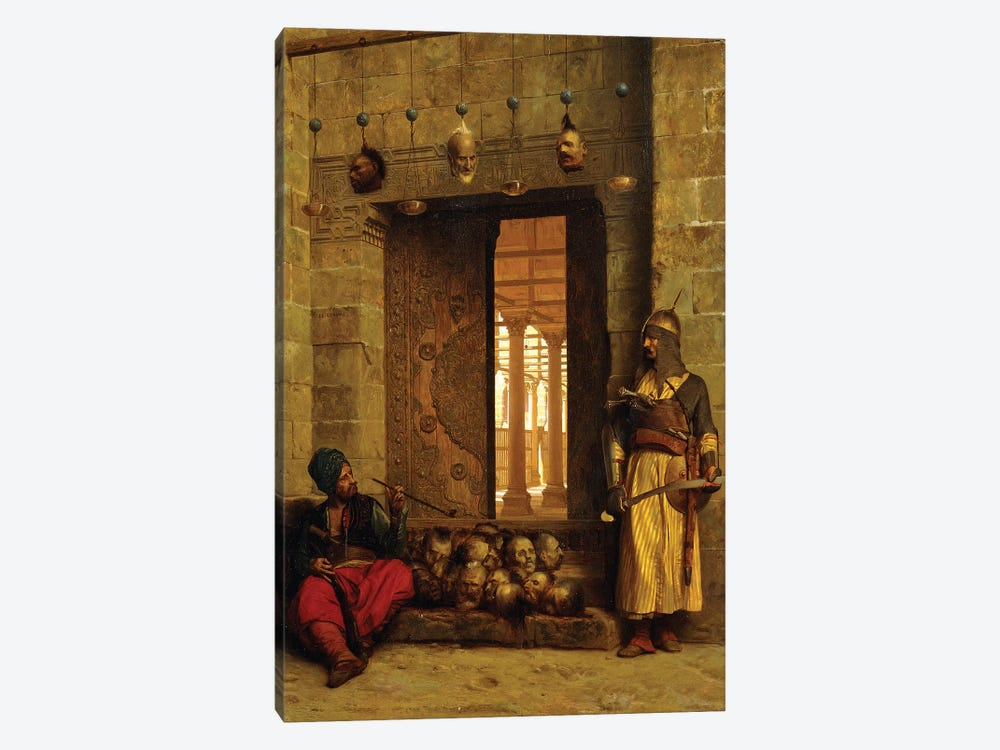 Heads Of The Rebel Beys At The Mosque-El Assaneyn, 1866 by Jean Leon Gerome 1-piece Canvas Art