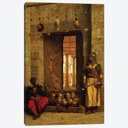 Heads Of The Rebel Beys At The Mosque-El Assaneyn, 1866 3-Piece Canvas #BMN7715} by Jean Leon Gerome Canvas Print