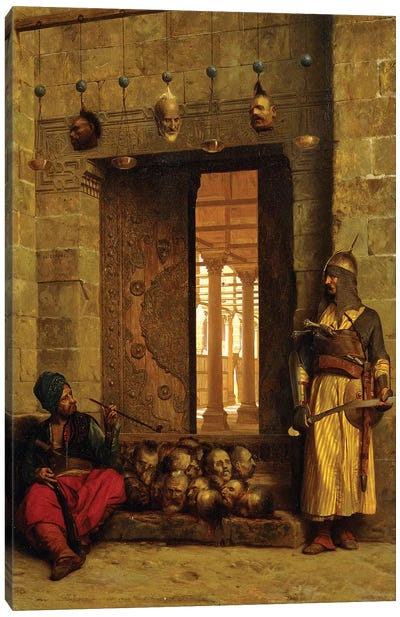 Heads Of The Rebel Beys At The Mosque-El Assaneyn, 1866 Canvas Art Print