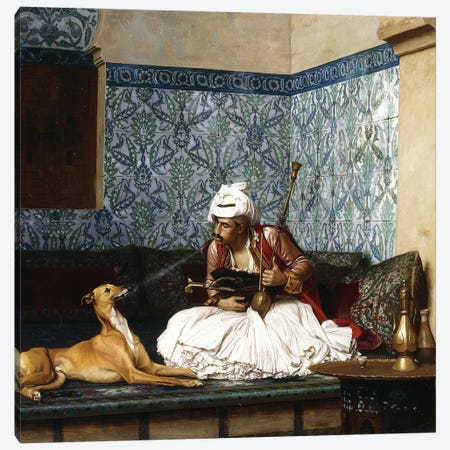 Just A Bit Of Fun Canvas Print #BMN7716} by Jean Leon Gerome Art Print