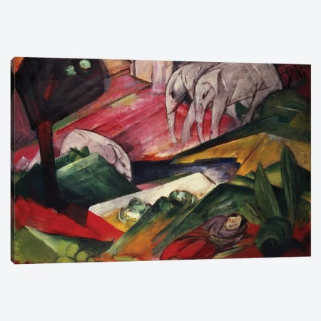The Dream Canvas Print #BMN771} by Franz Marc Canvas Art