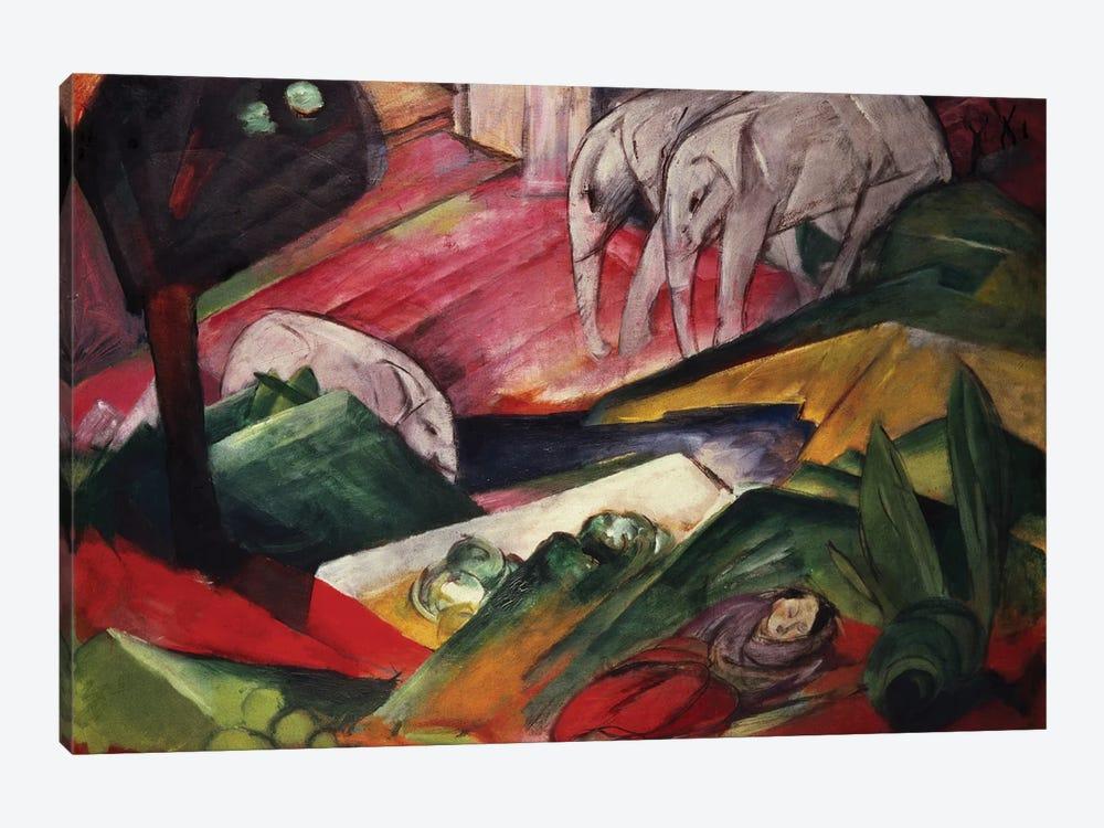 The Dream by Franz Marc 1-piece Canvas Artwork
