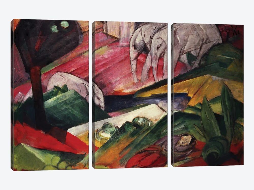 The Dream by Franz Marc 3-piece Canvas Wall Art