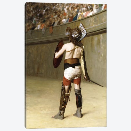 Mirmillon - A Gallic Gladiator Canvas Print #BMN7720} by Jean Leon Gerome Canvas Art Print