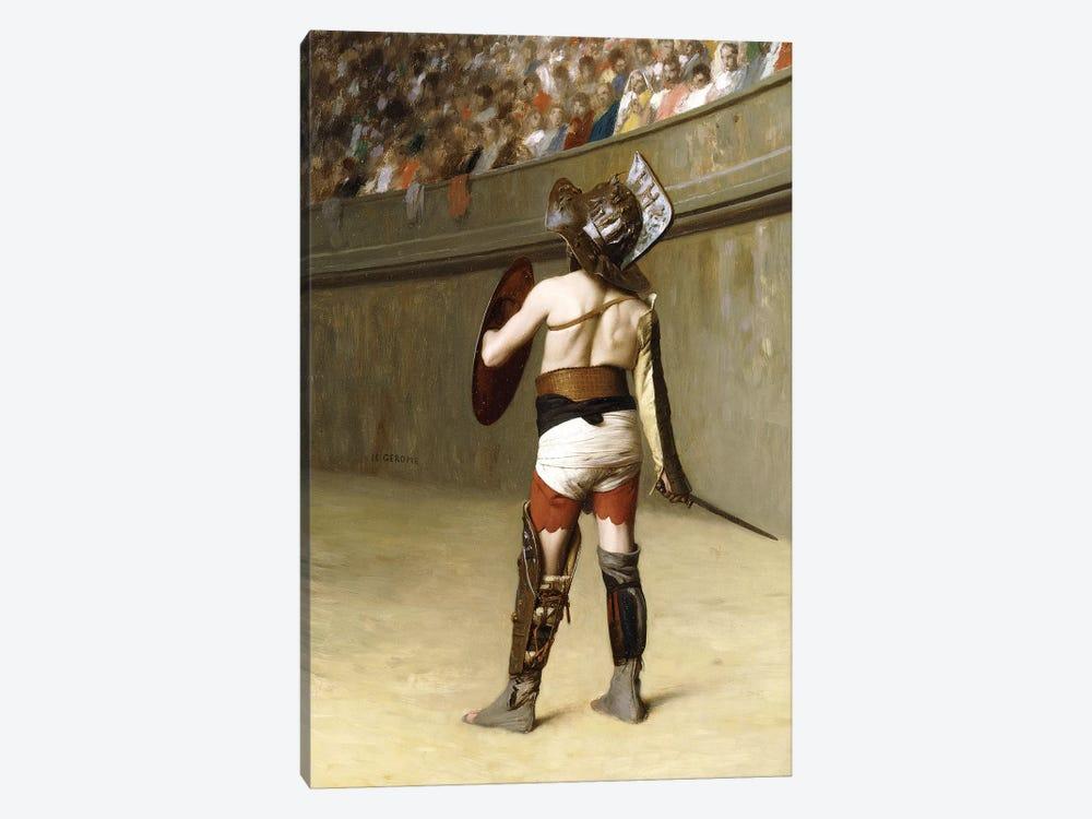 Mirmillon - A Gallic Gladiator by Jean Leon Gerome 1-piece Canvas Wall Art