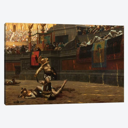 Pollice Verso Canvas Print #BMN7722} by Jean Leon Gerome Canvas Art Print