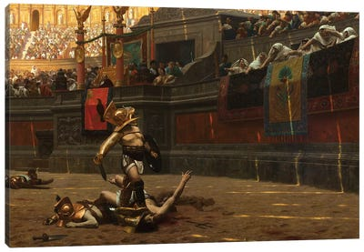 Pollice Verso Canvas Art Print