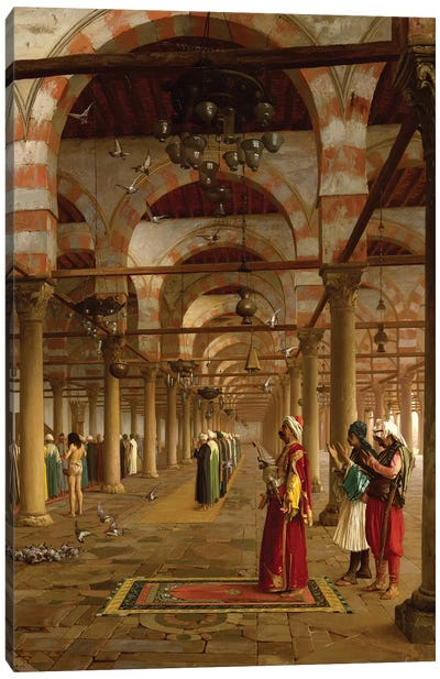 Prayer In The Mosque, 1871 Canvas Art Print