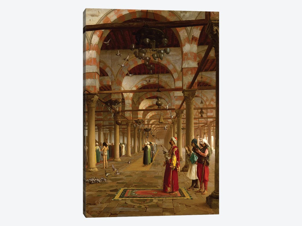 Prayer In The Mosque, 1871 by Jean Leon Gerome 1-piece Art Print