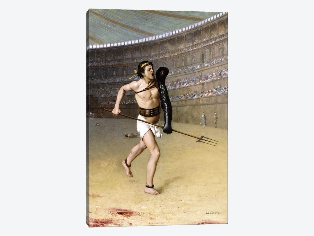 Retarius by Jean Leon Gerome 1-piece Canvas Artwork