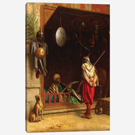 The Arms Market In Cairo Canvas Print #BMN7725} by Jean Leon Gerome Canvas Wall Art