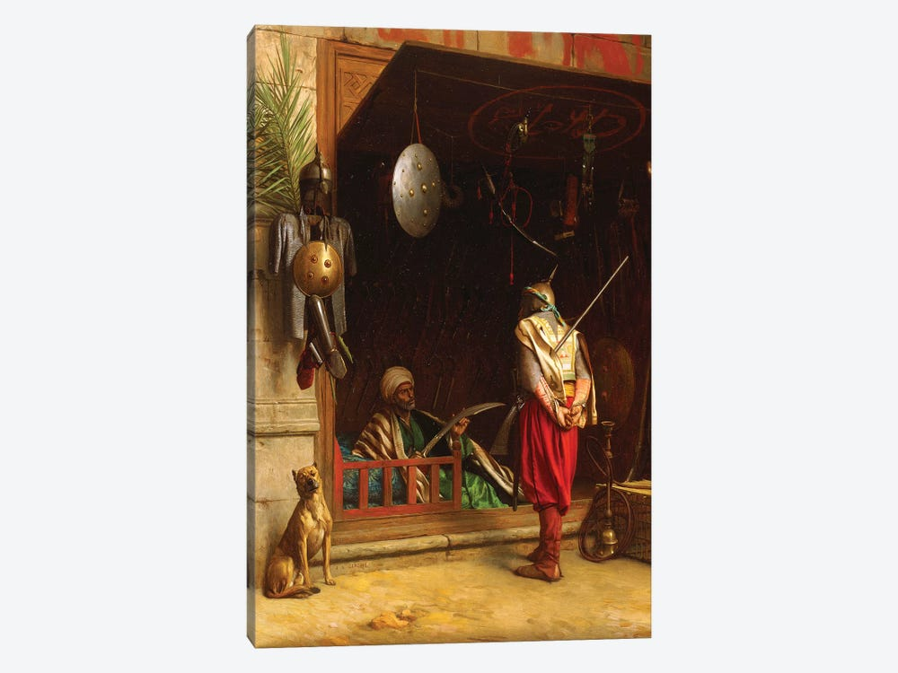The Arms Market In Cairo by Jean Leon Gerome 1-piece Canvas Art Print