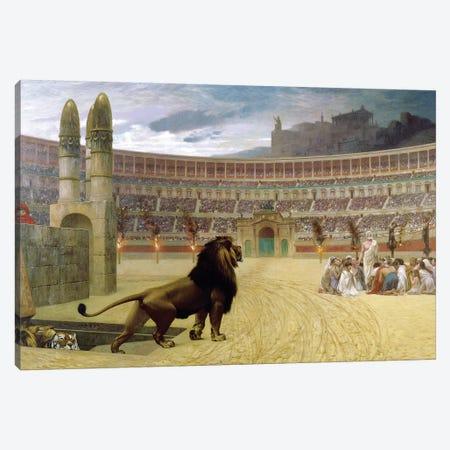 The Christian Martyr's Last Prayer, 1863-83 Canvas Print #BMN7726} by Jean Leon Gerome Canvas Wall Art