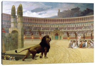The Christian Martyr's Last Prayer, 1863-83 Canvas Art Print
