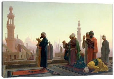 The Prayer, 1865 Canvas Art Print