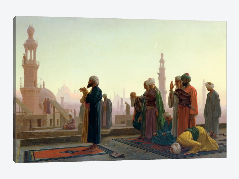 The Prayer, 1865 by Jean Leon Gerome 1-piece Canvas Artwork