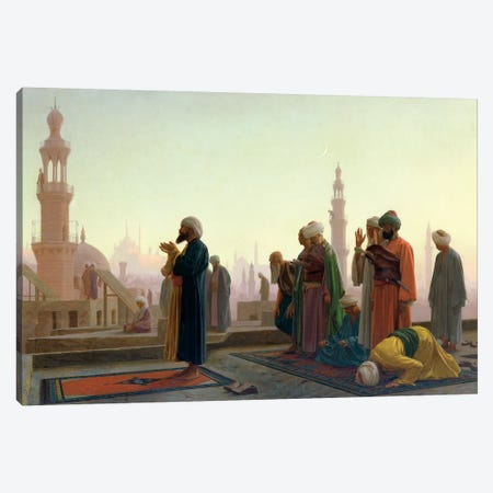 The Prayer, 1865 3-Piece Canvas #BMN7728} by Jean Leon Gerome Art Print
