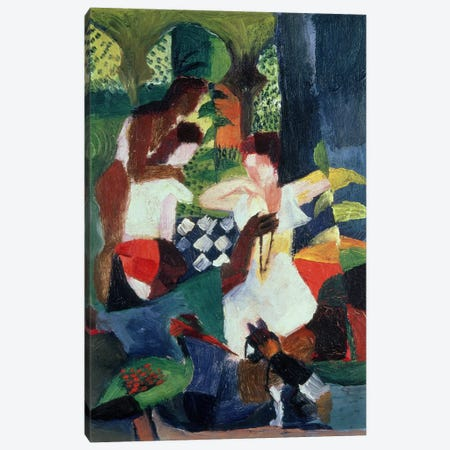 The Turkish Jeweller  Canvas Print #BMN772} by August Macke Canvas Wall Art