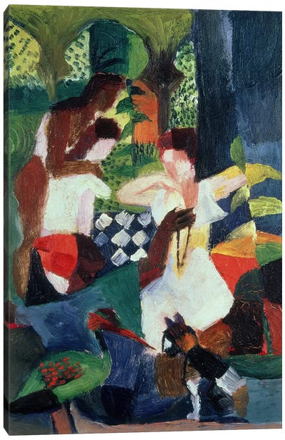 The Turkish Jeweller by August Macke Canvas Wall Art