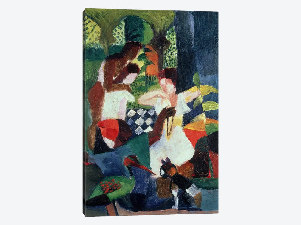 The Turkish Jeweller  by August Macke 1-piece Canvas Art Print