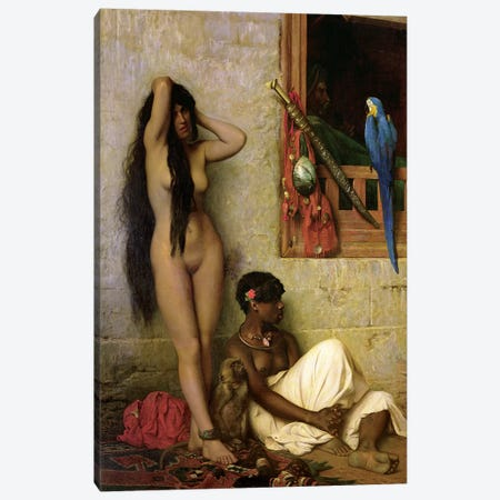 The Slave For Sale, 1873 Canvas Print #BMN7731} by Jean Leon Gerome Canvas Art