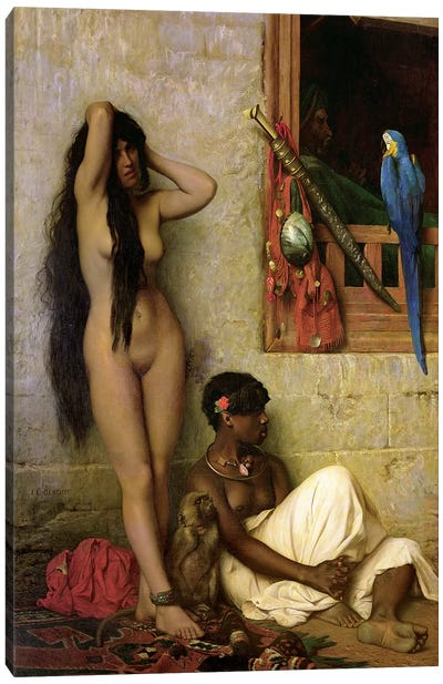 The Slave For Sale, 1873 Canvas Art Print