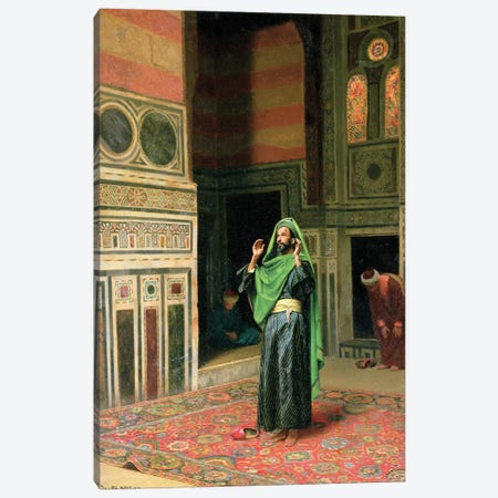 In The Mosque 3-Piece Canvas #BMN7736} by Ludwig Deutsch Canvas Print