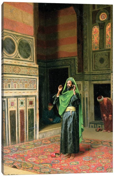 In The Mosque Canvas Art Print