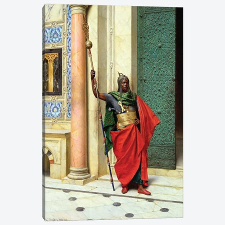 On Guard Canvas Print #BMN7739} by Ludwig Deutsch Canvas Art