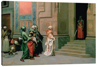 Outside The Palace Canvas Art Print