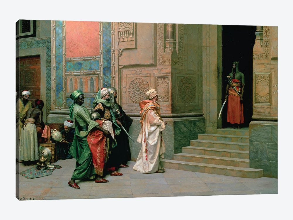 Outside The Palace by Ludwig Deutsch 1-piece Canvas Art