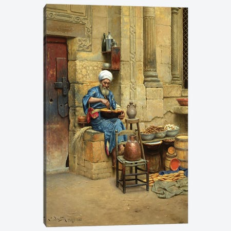 Street Merchant, 1888 Canvas Print #BMN7741} by Ludwig Deutsch Canvas Print