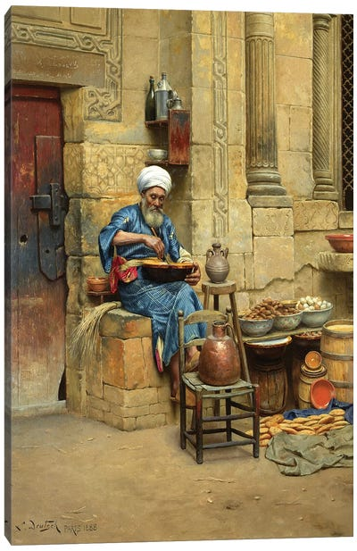 Street Merchant, 1888 Canvas Art Print