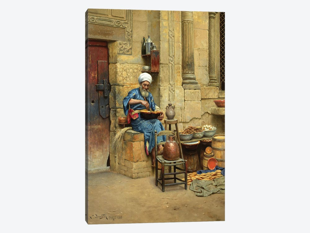 Street Merchant, 1888 1-piece Canvas Print