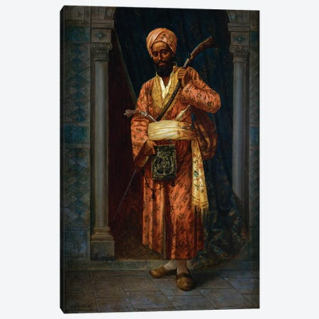 The Arab Guard Canvas Print #BMN7743} by Ludwig Deutsch Art Print