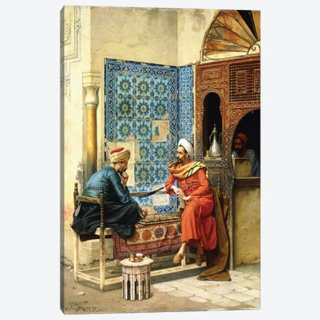 The Chess Game, 1896 Canvas Print #BMN7744} by Ludwig Deutsch Canvas Artwork