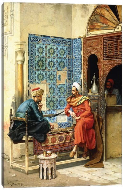 The Chess Game, 1896 Canvas Art Print