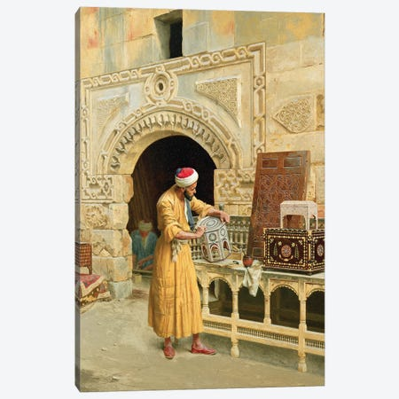 The Furniture Maker Canvas Print #BMN7746} by Ludwig Deutsch Canvas Wall Art
