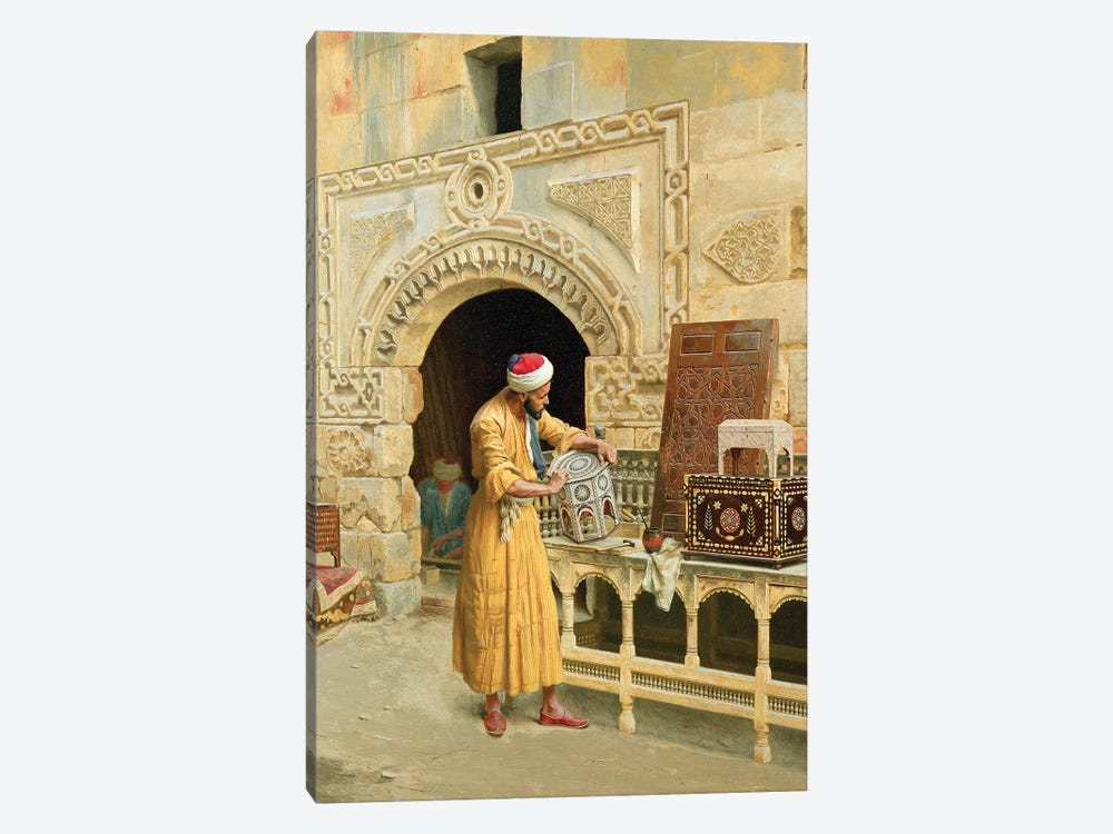 The Furniture Maker by Ludwig Deutsch 1-piece Canvas Artwork