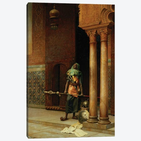 The Harem Guard Canvas Print #BMN7747} by Ludwig Deutsch Canvas Artwork