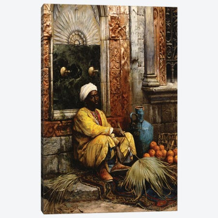 The Orange Seller, 1882 Canvas Print #BMN7749} by Ludwig Deutsch Canvas Print
