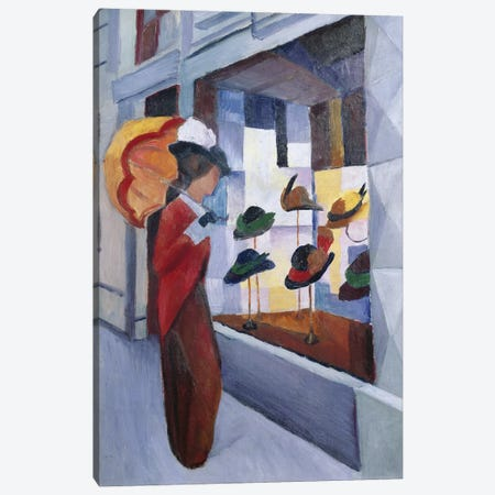 The Milliner's Shop, 1914 Canvas Print #BMN774} by August Macke Canvas Print