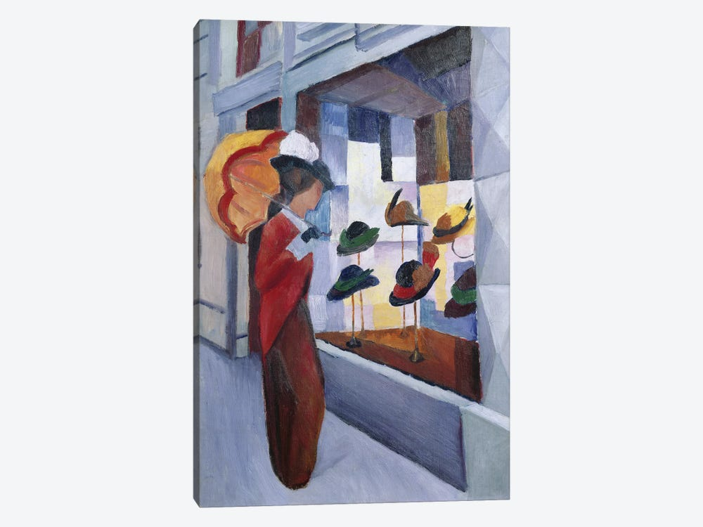 The Milliner's Shop, 1914 by August Macke 1-piece Canvas Print