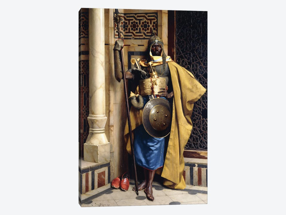 The Palace Guard, 1892 by Ludwig Deutsch 1-piece Canvas Print