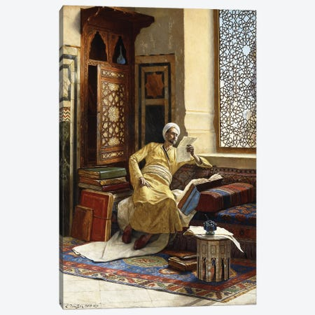 The Scholar, 1895 Canvas Print #BMN7751} by Ludwig Deutsch Canvas Artwork