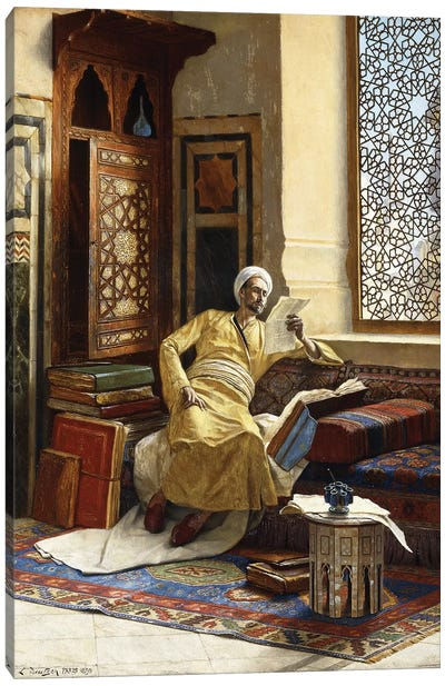 The Scholar, 1895 Canvas Art Print
