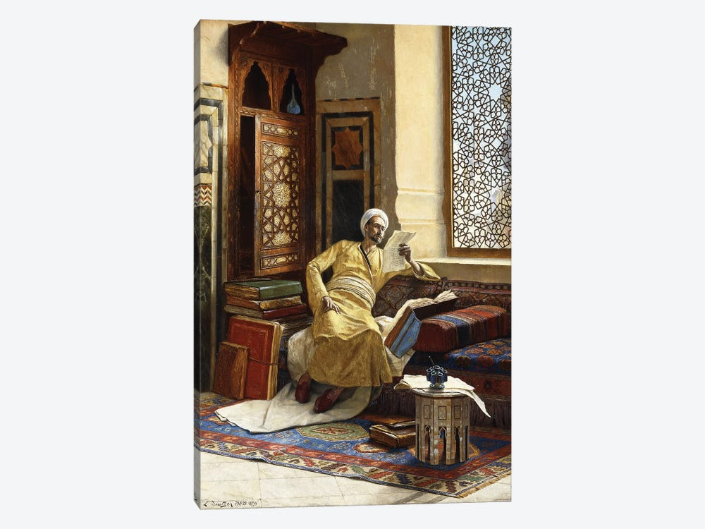 The Scholar, 1895 by Ludwig Deutsch 1-piece Canvas Artwork